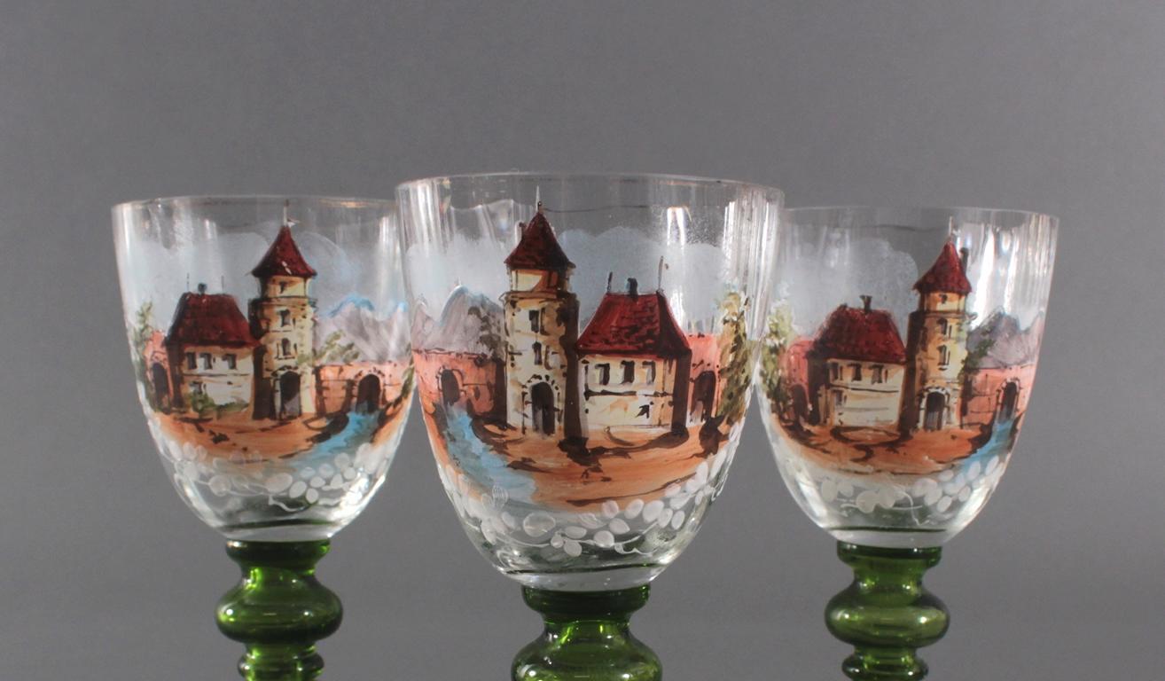 3 antike Weinkelche aus dem 19. Jahrhundert-2