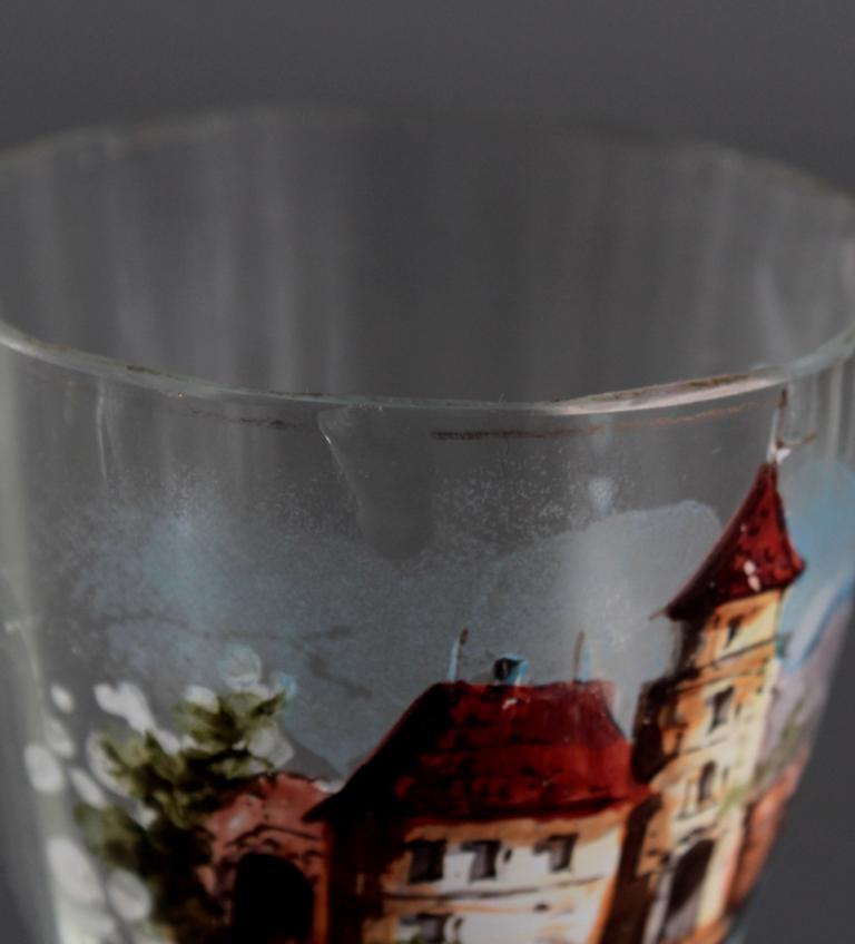 3 antike Weinkelche aus dem 19. Jahrhundert-6