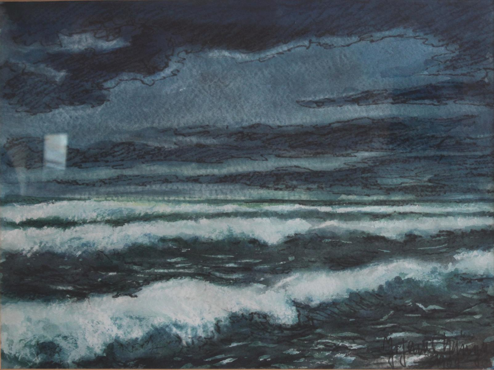 Aquarell, 'Meer'-2
