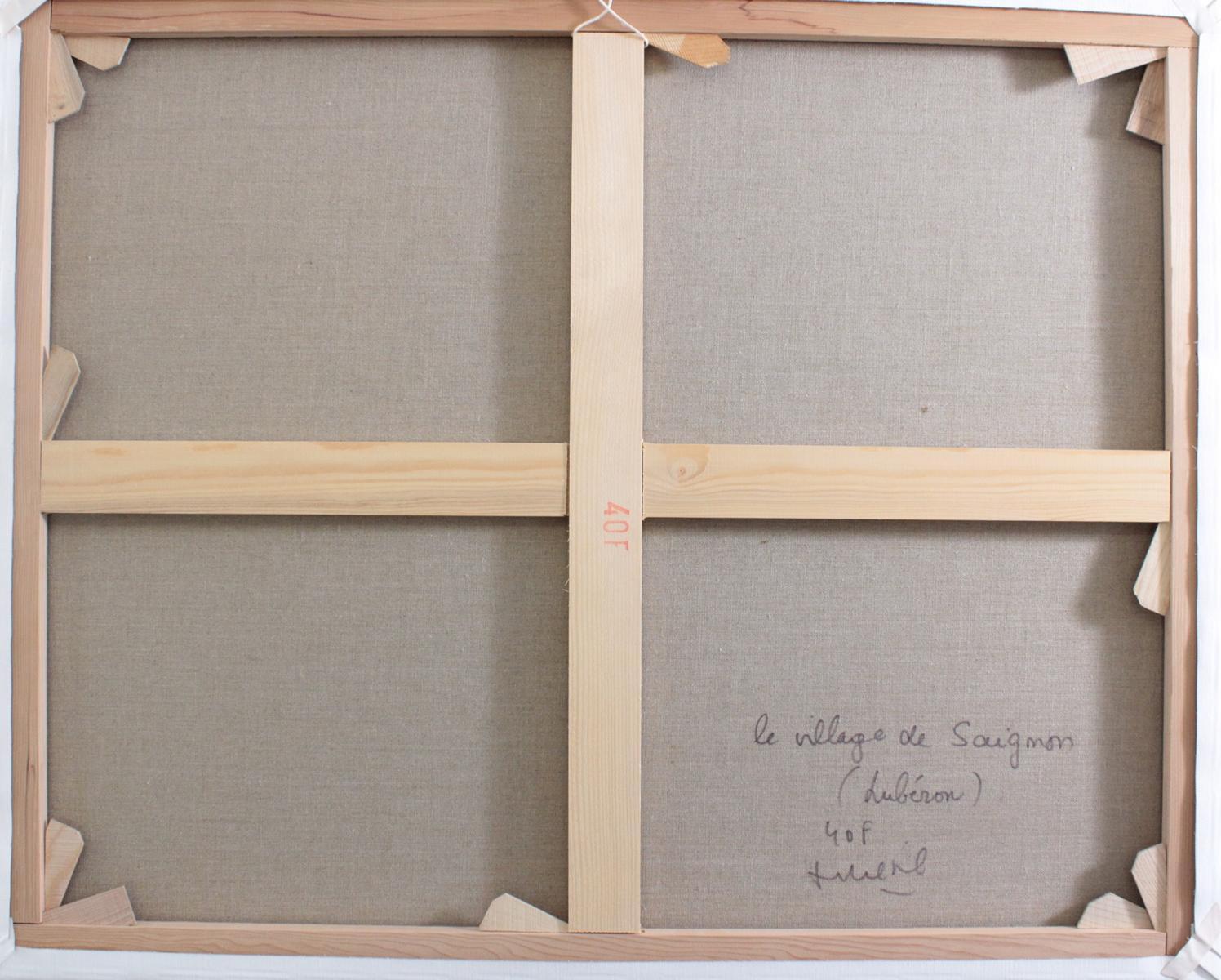 F. Riehel, zeitgenössischer Künstler. 'Le Village de Saignon', Luberon-3