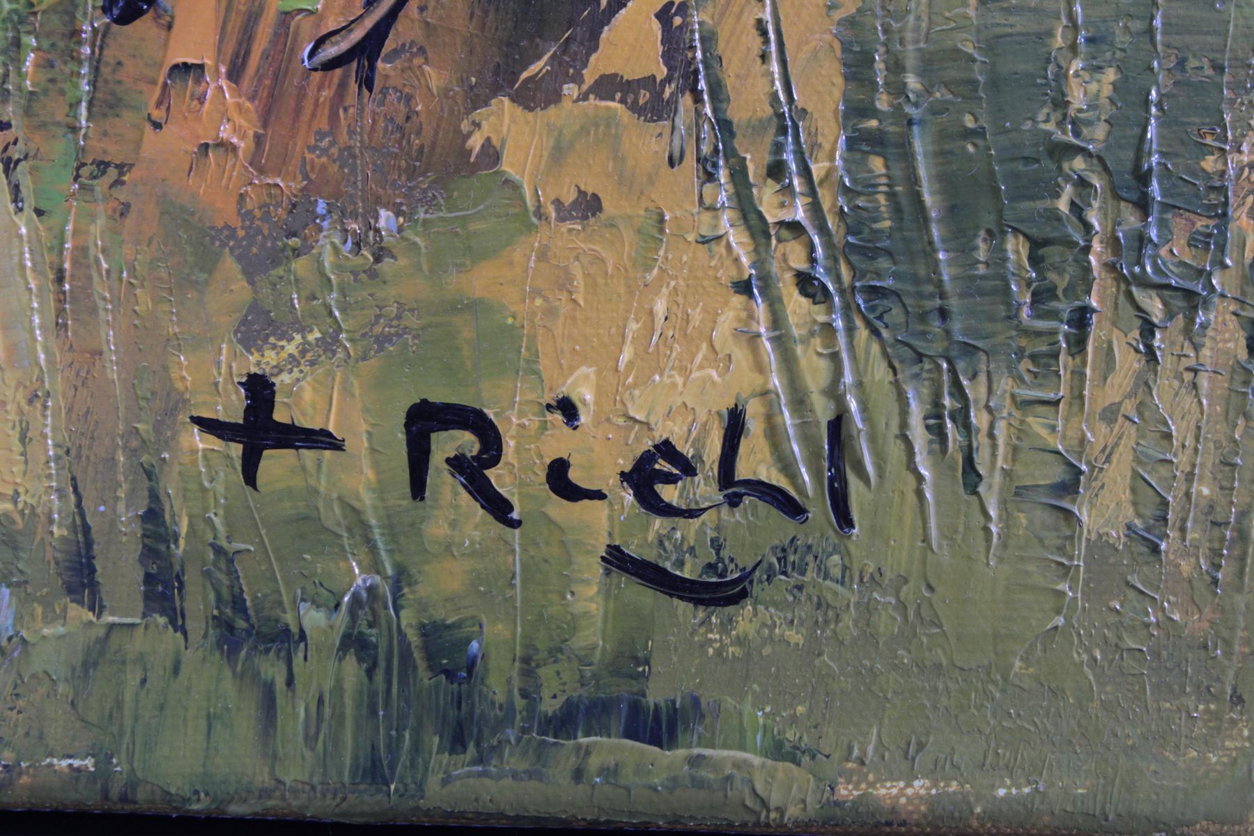 F. Riehel, zeitgenössischer Künstler. 'Chemin printanur '-2