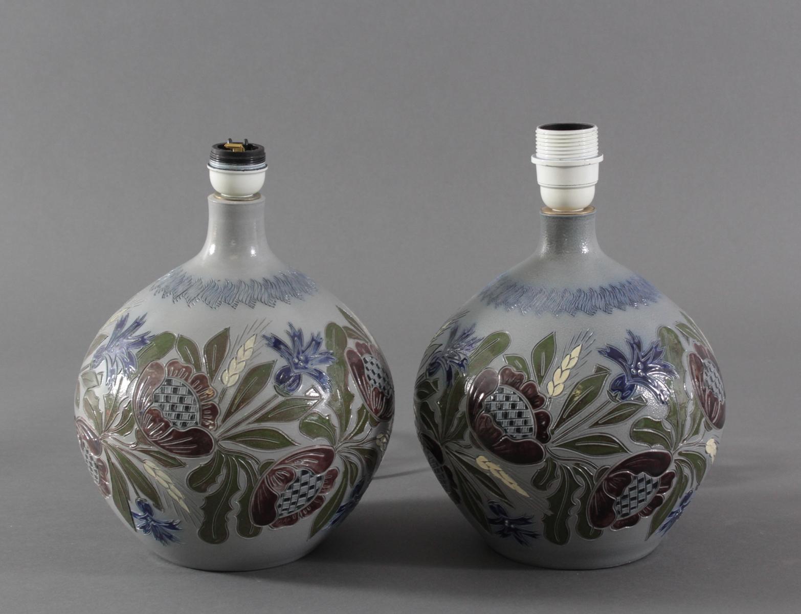 Paar Keramik Tischlampen – Betschdorf-2