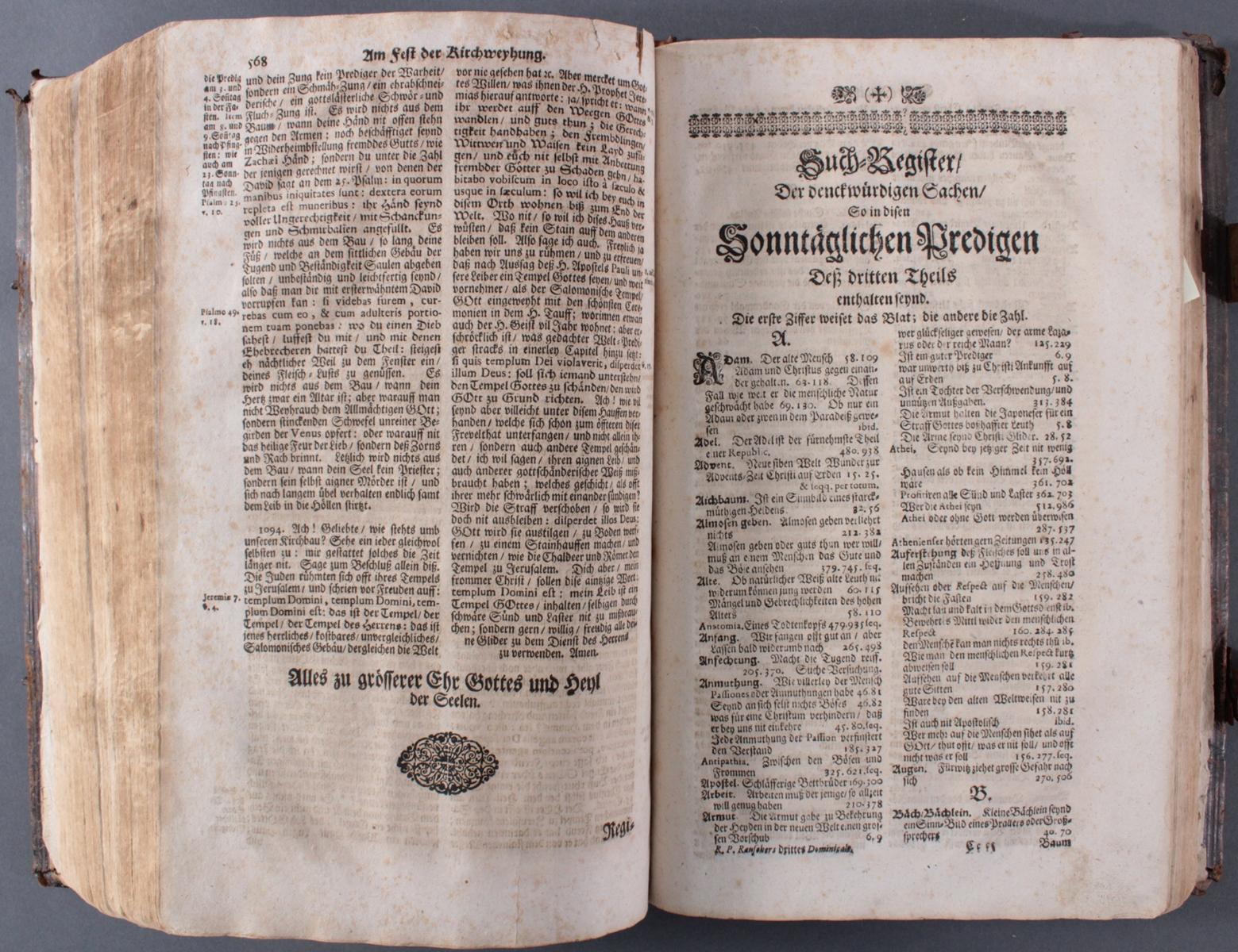 Bibel in 2 Teilen von 1697/98-4
