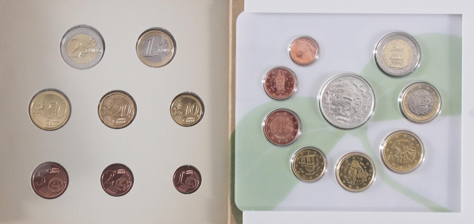 27 Euro KMS, 2016 mit einigen Kleinstaaten und Sondermünzen-2