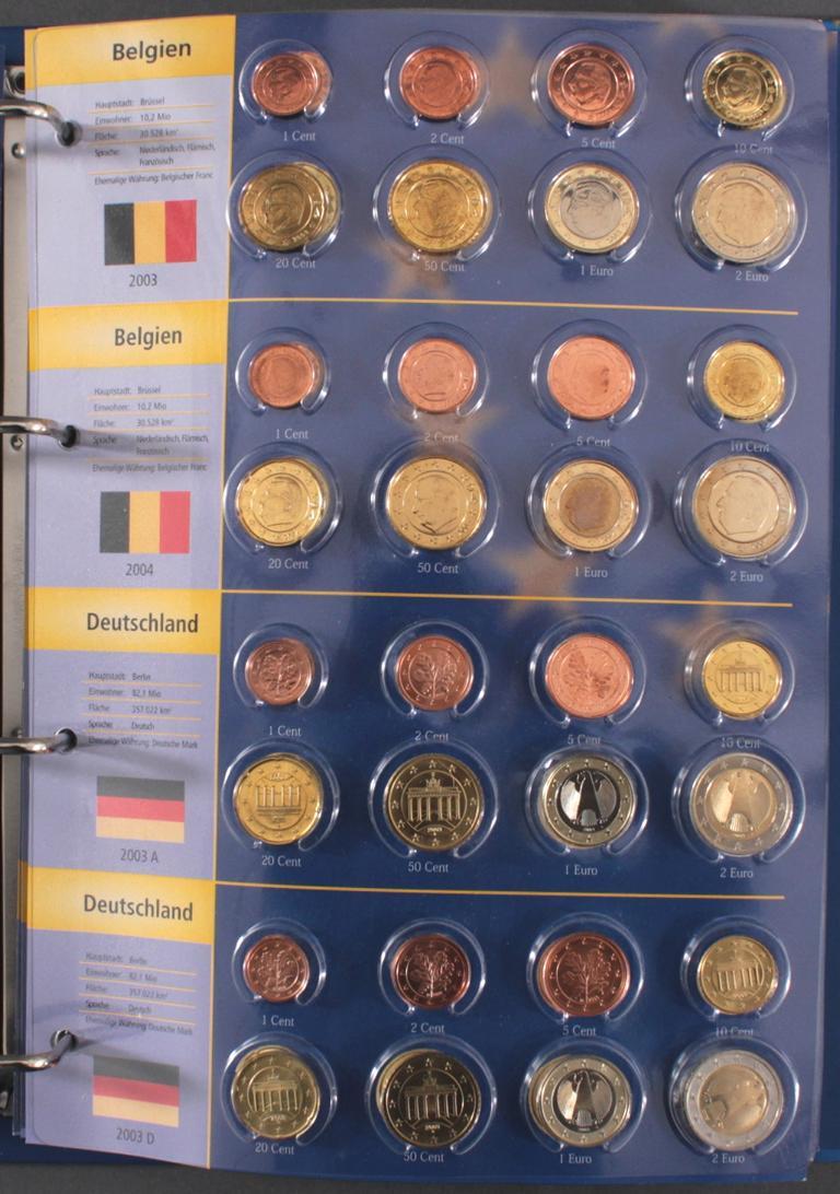 Euro Kursmünzen 2003-2004-2