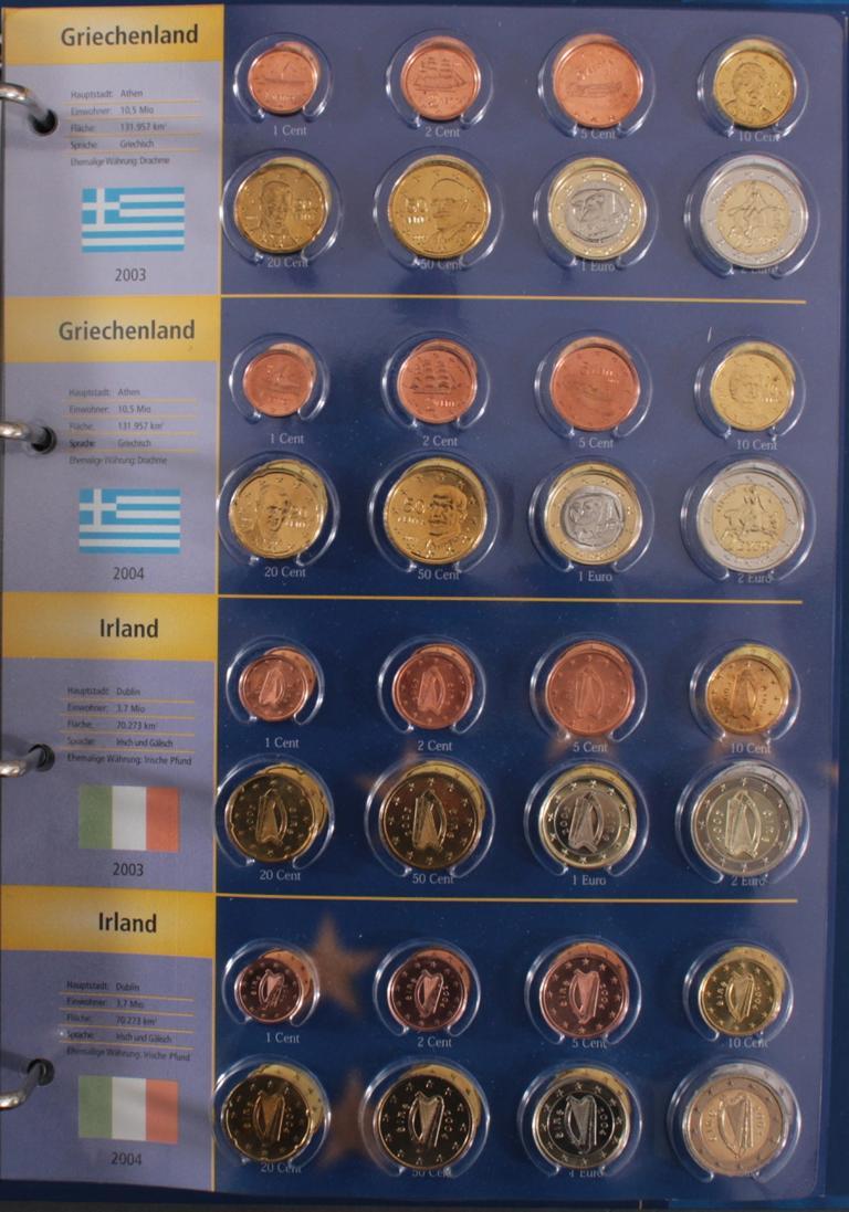 Euro Kursmünzen 2003-2004-6