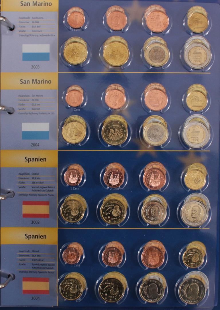 Euro Kursmünzen 2003-2004-9