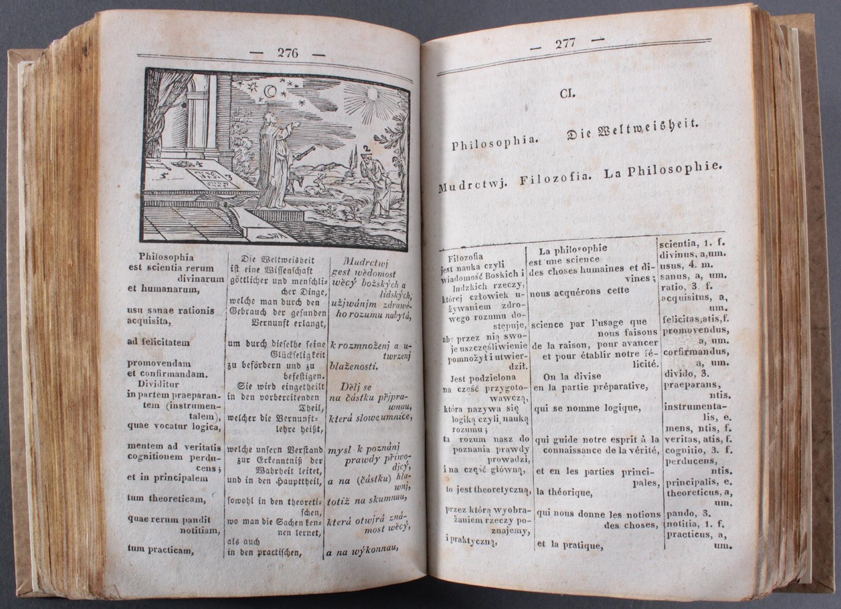 Wörterbuch von 1832, Latein, deutsch, französisch und tschechisch-2