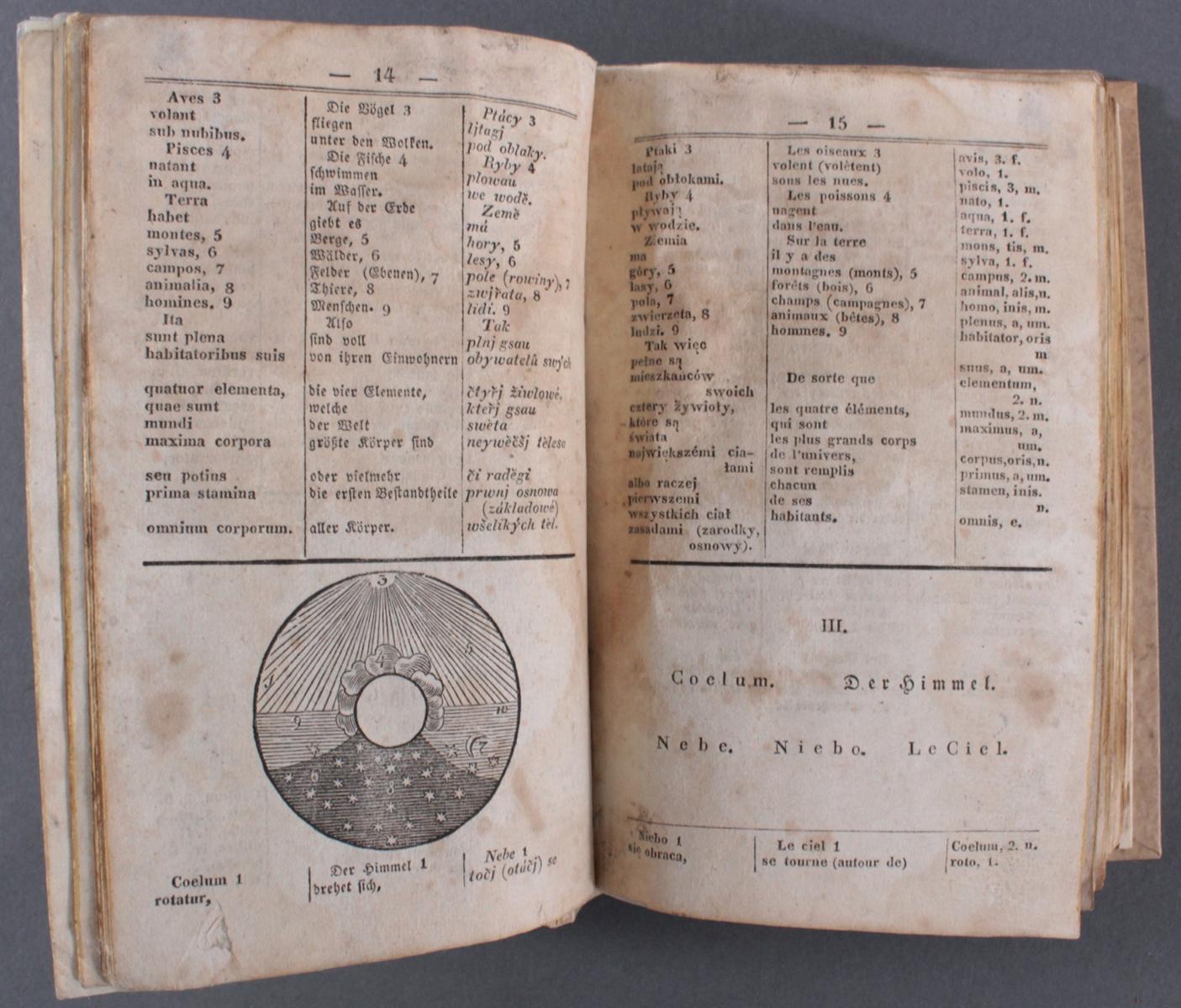 Wörterbuch von 1832, Latein, deutsch, französisch und tschechisch-3