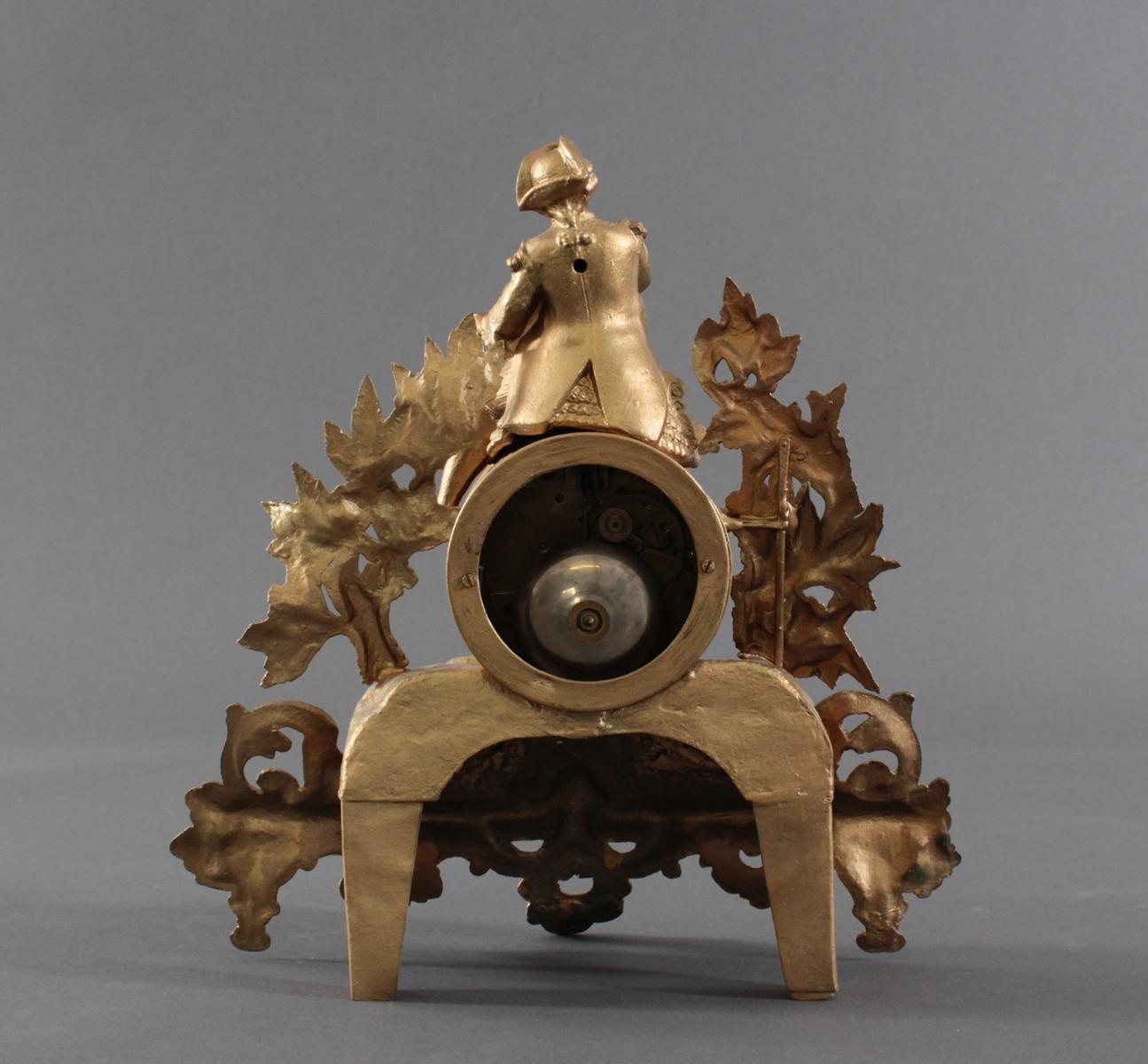 Französische Kaminuhr, Frankreich um 1850/60-5