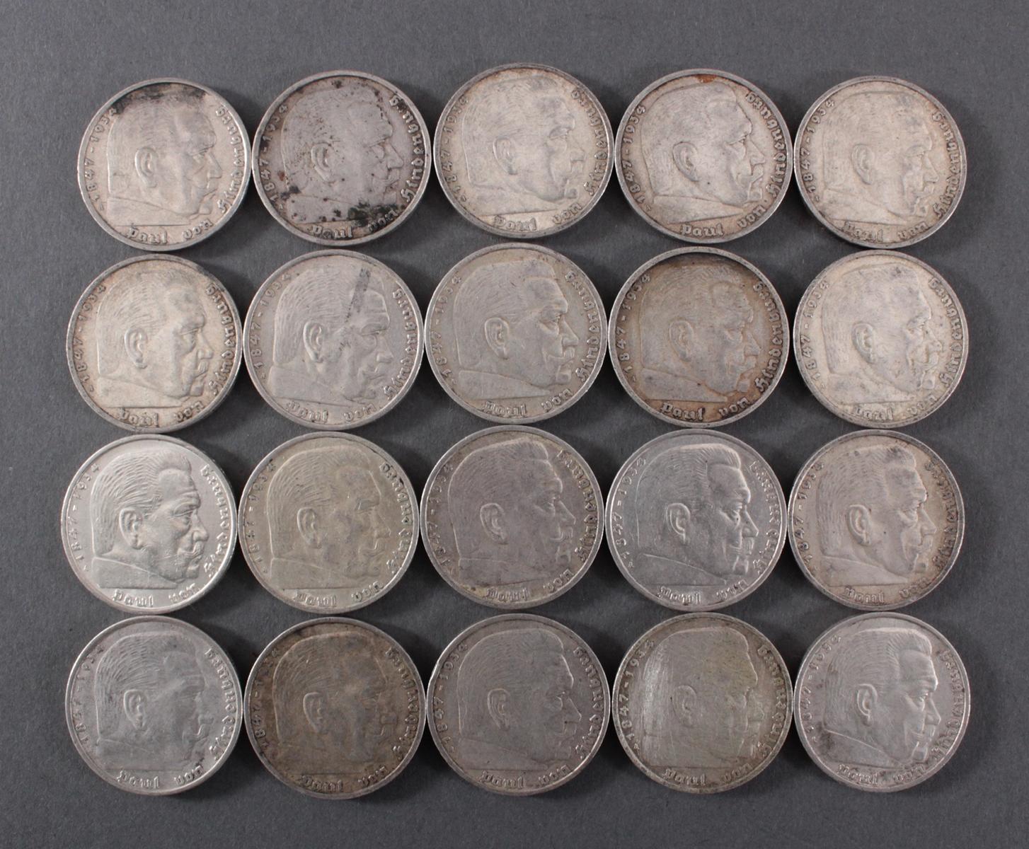 Deutsches Reich 1935, 20x 5 Reichsmark