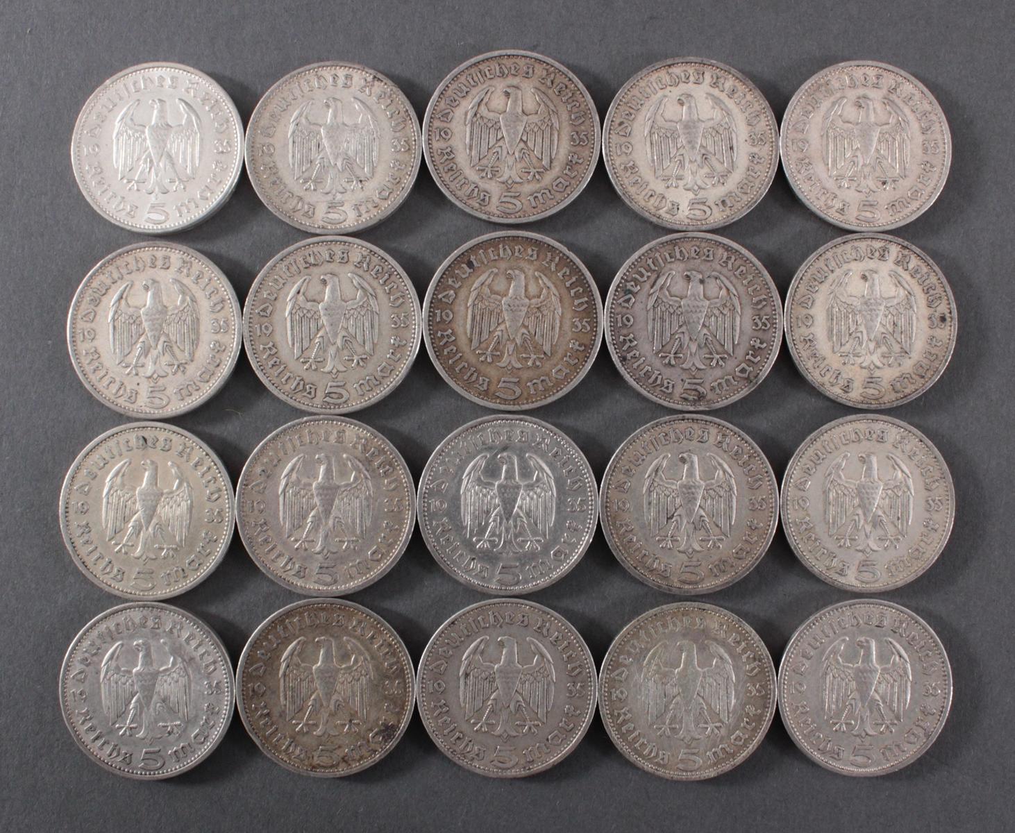 Deutsches Reich 1935, 20x 5 Reichsmark-2