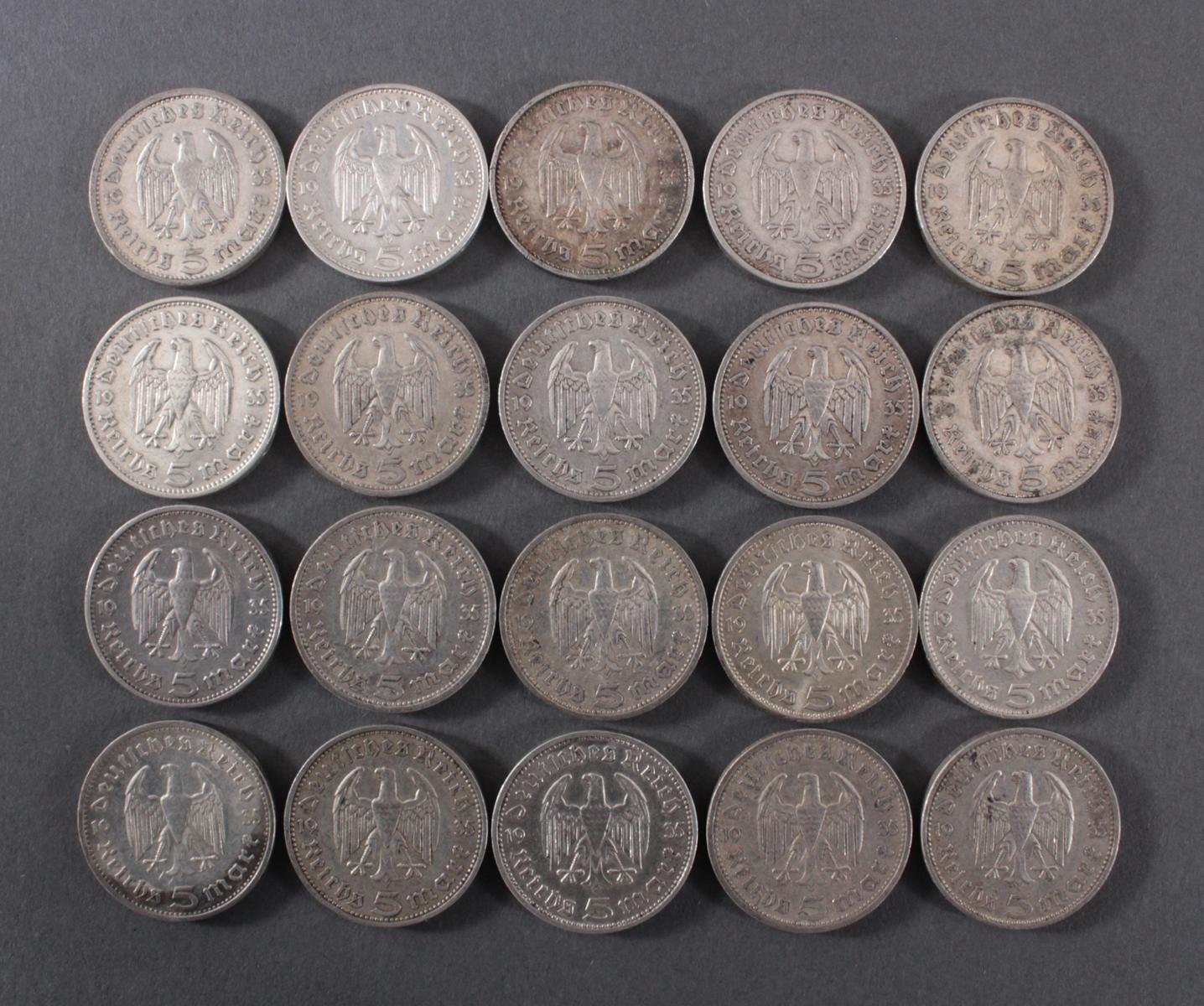 Deutsches Reich, 20x 5 Reichsmark-2