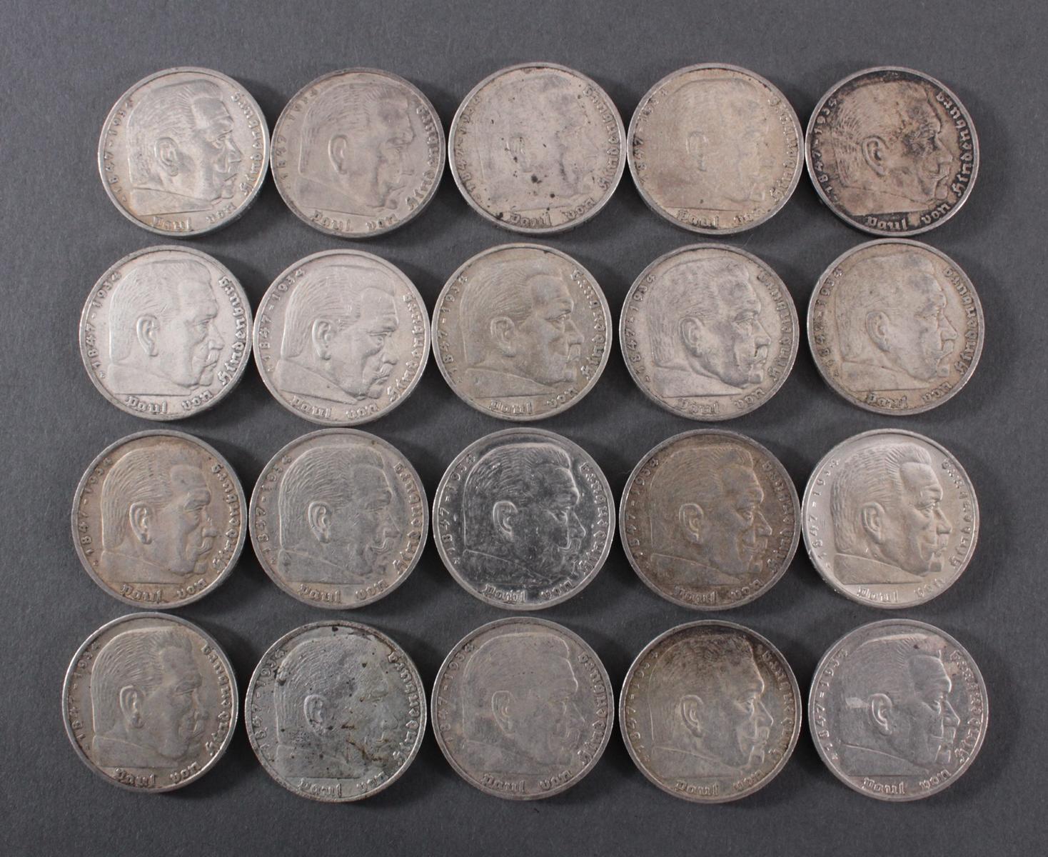 Deutsches Reich, 20x 5 Reichsmark