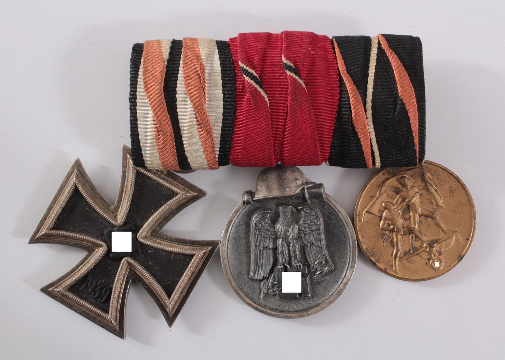 Drittes Reich, Ordensspange mit 3 Auszeichnungen