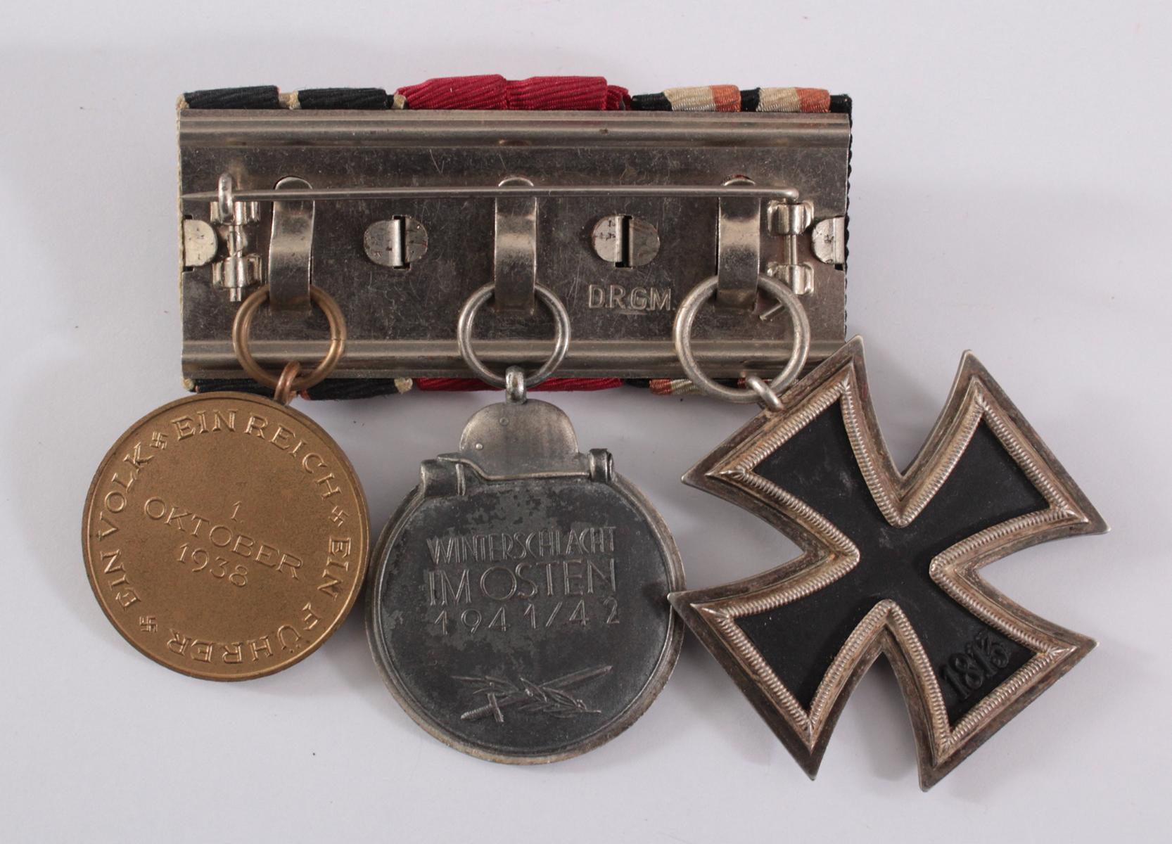 Drittes Reich, Ordensspange mit 3 Auszeichnungen-2