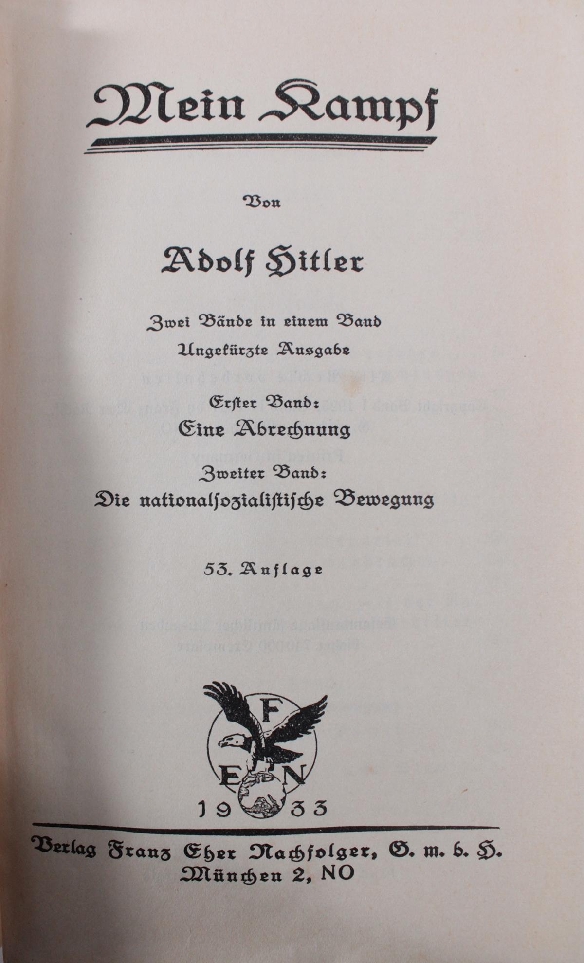 Adolf Hitler Mein Kampf-2