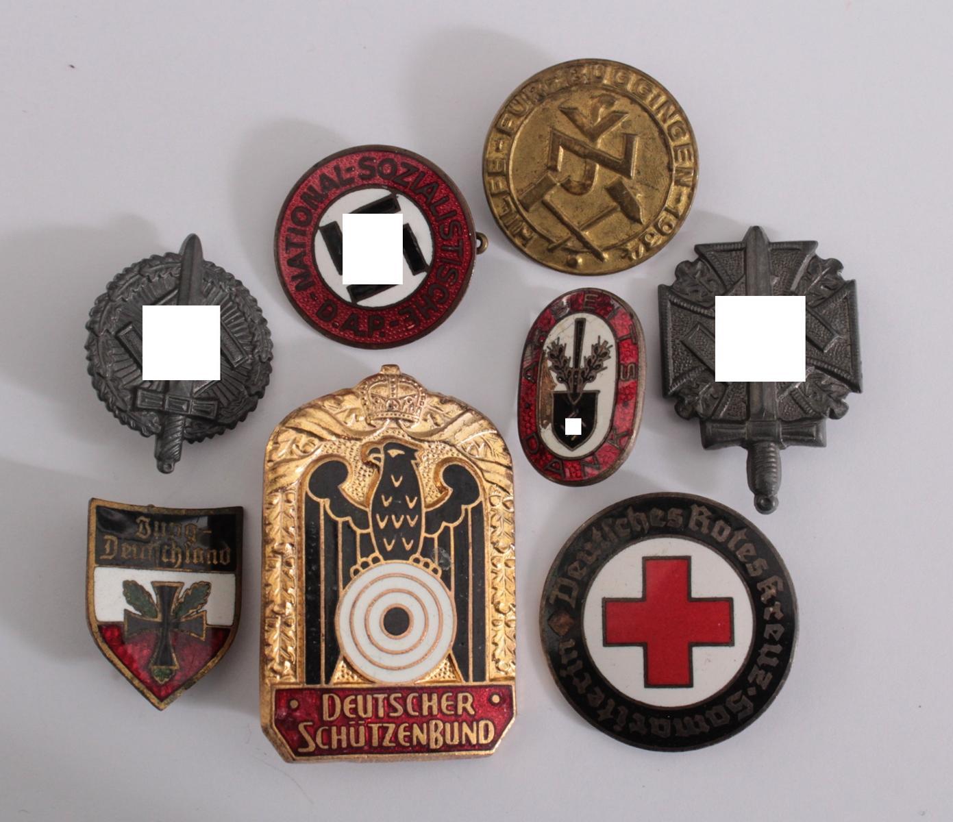 Sammlung WHW Spendenbelege, Partei- und Vereinsabzeichen