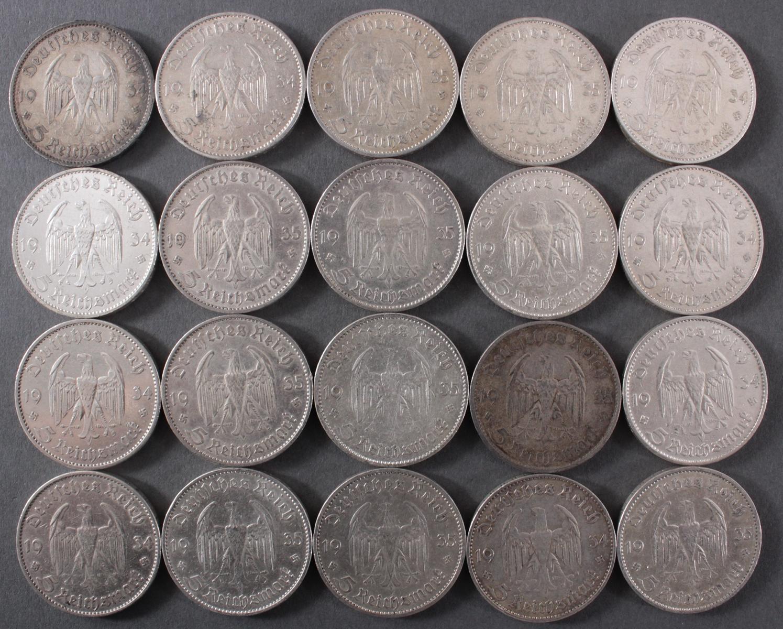 Deutsches Reich, 20x 5 Reichsmark 1934/35 Garnisonskirche-2