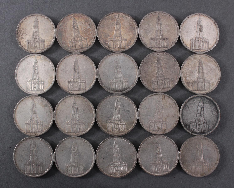 Deutsches Reich, 20x 5 Reichsmark 1934/35 Garnisonskirche