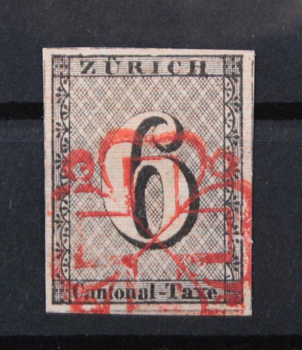 Schweiz Kantonalmarken, Zumstein 2W, Zürich 6 Rp.