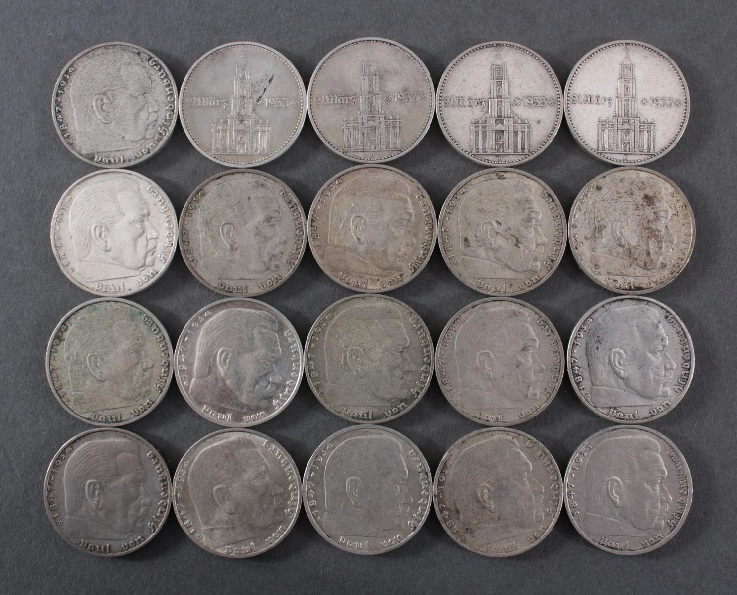 Deutsches Reich, 2 Reichsmark 20 Stück