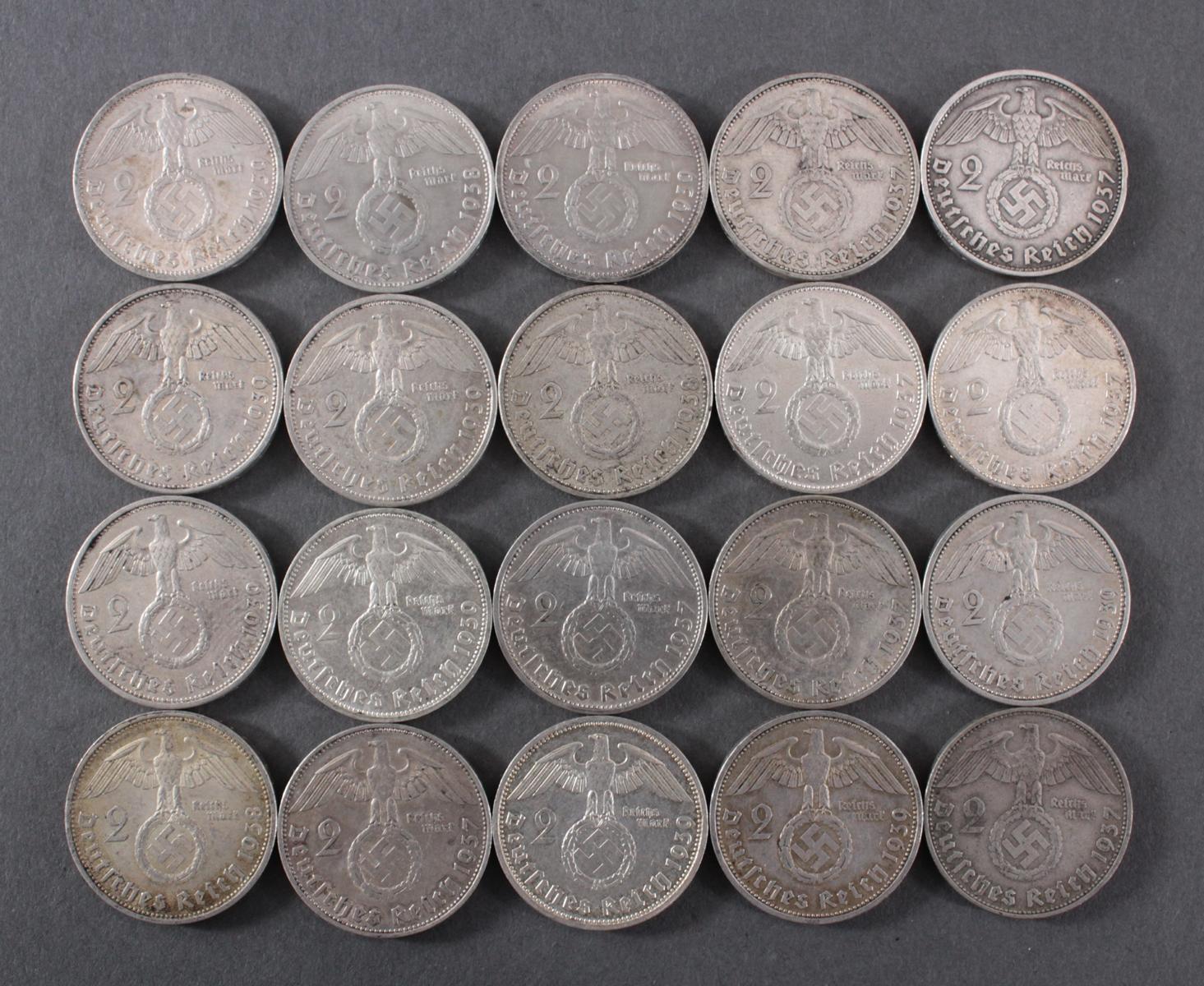 Deutsches Reich, 2 Reichsmark 20 Stück-2