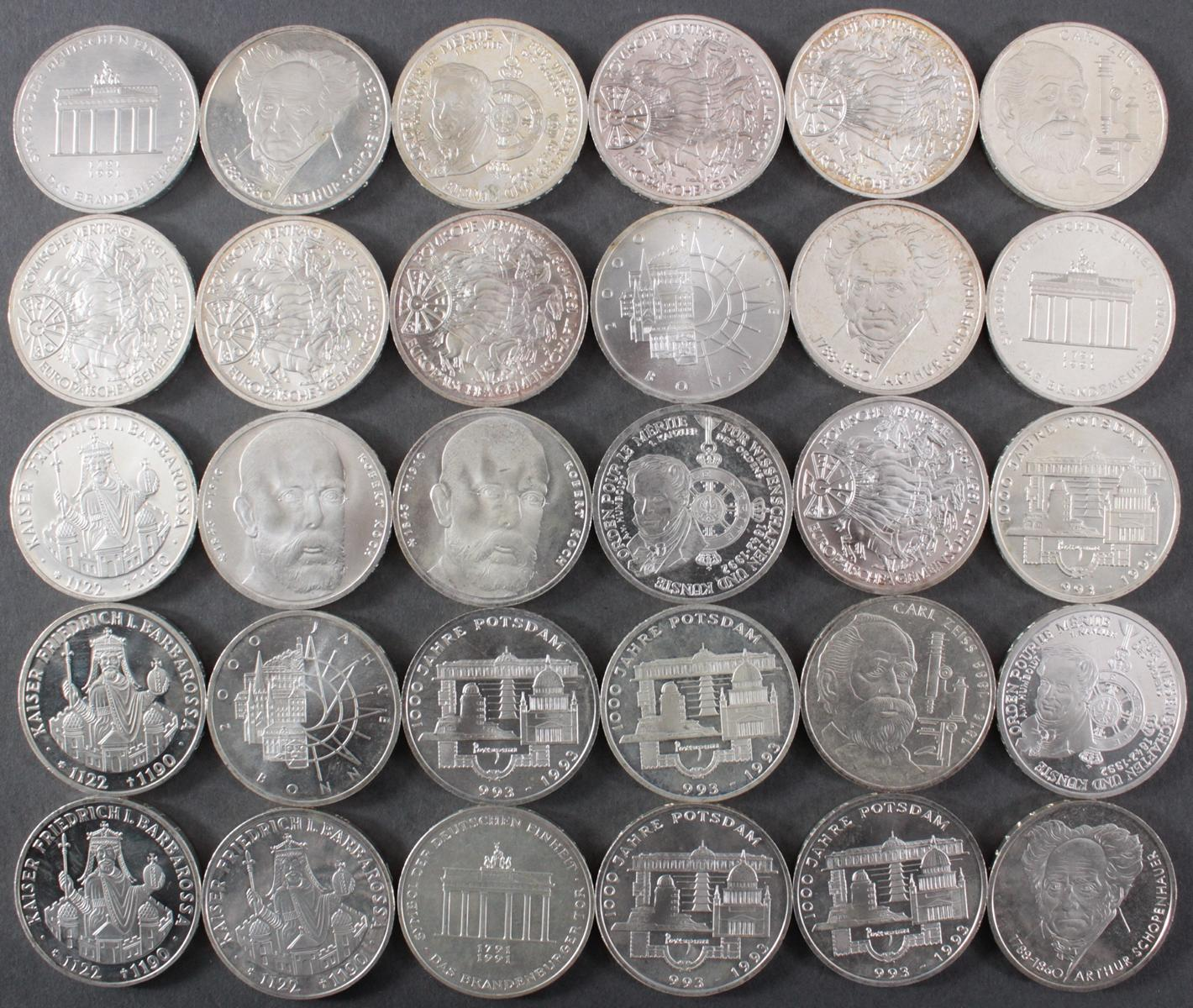 BRD, 10 DM Gedenkmünzen, 30 Stück