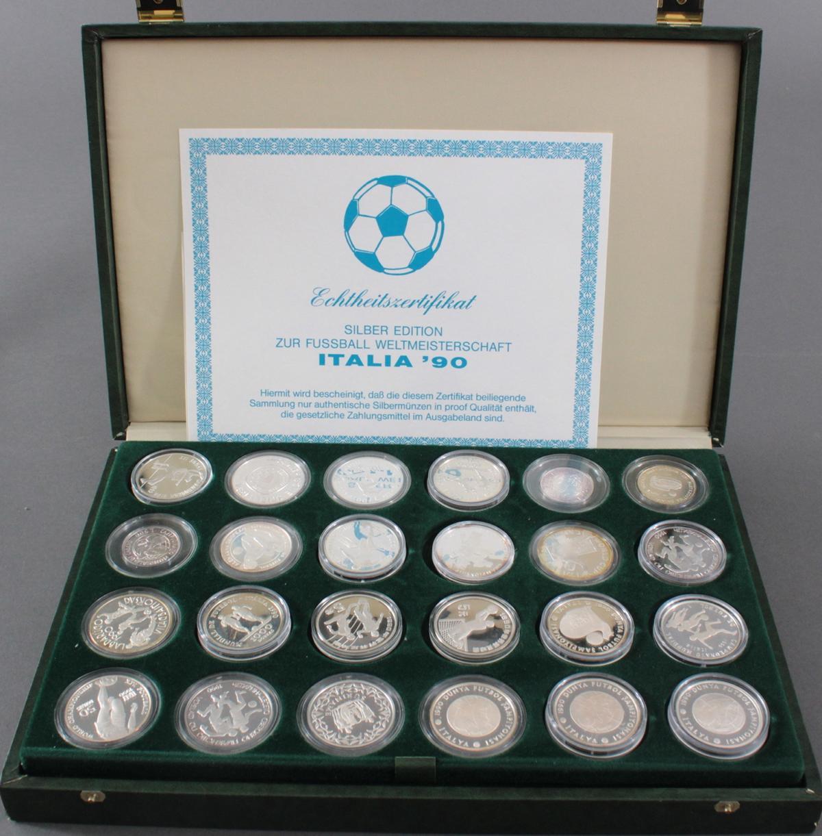 Italien – Silberedition zur Fussball-Weltmeisterschaft 1990-4