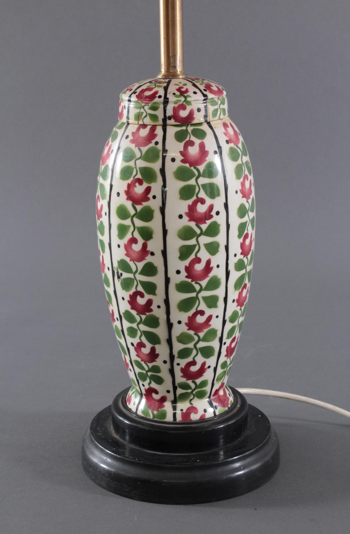 Tischlampe,  aus einer antiken Keramik-Deckelvase-2