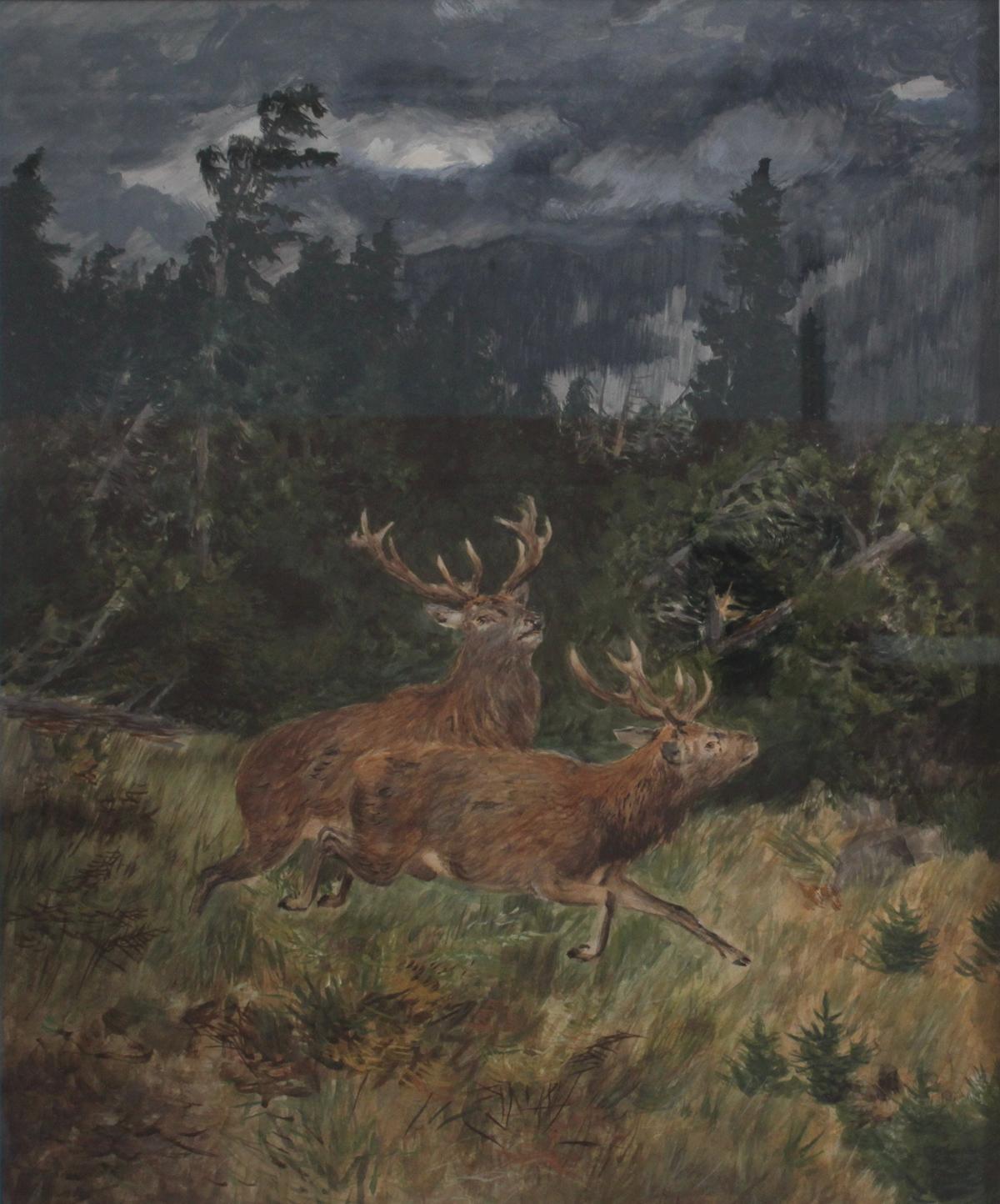 Josef Schmitzberger 1851 – 1936 'Der Sturm'-2
