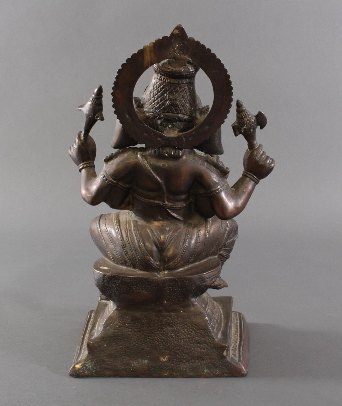 Große Ganesha, Indien um 1900 aus Bronze-2