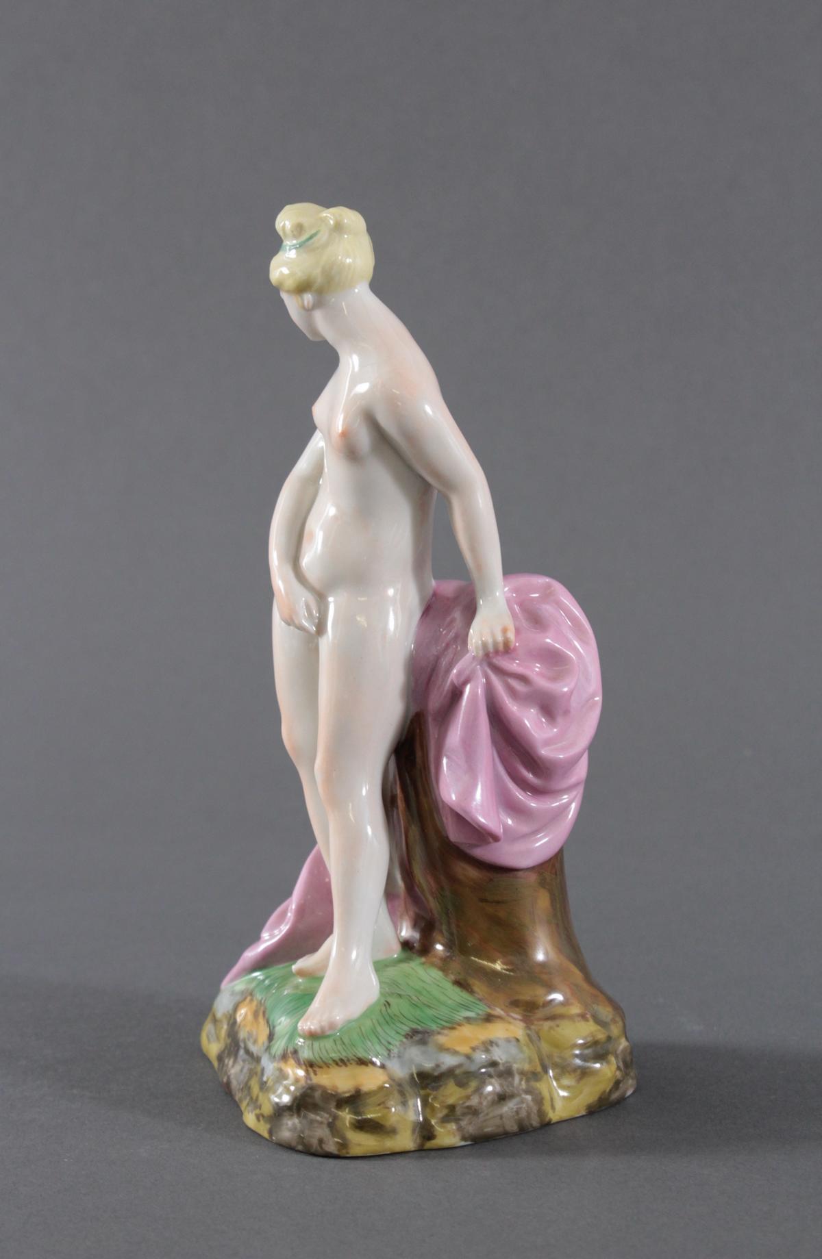 Höchst Porzellanfigur. 'Venus vor dem Bad', 20. Jh.,-3