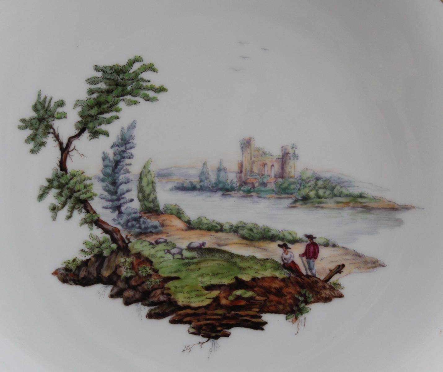 Wandteller, Höchster Porzellanmanufaktur-2
