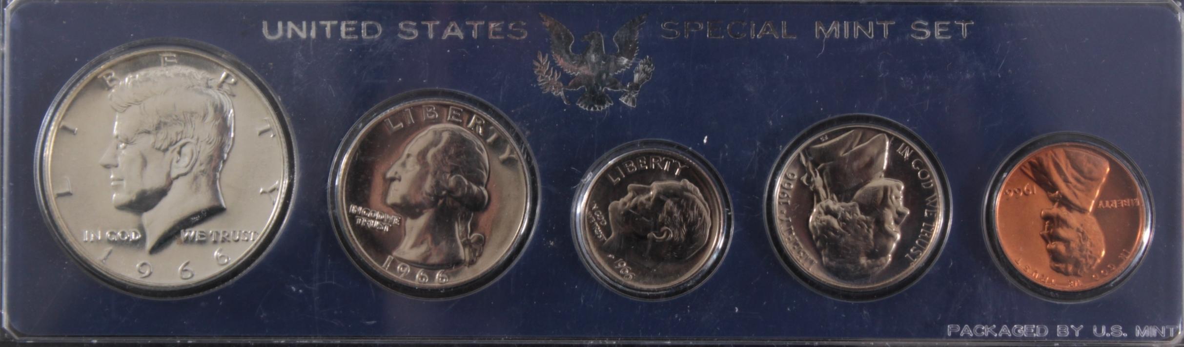 USA, Münzsammlung in blauer Sammelbox-2