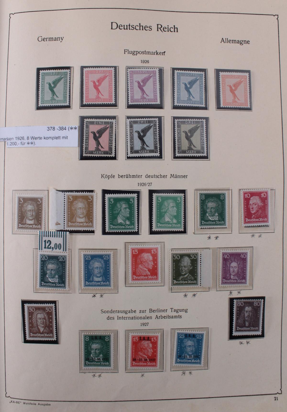 Deutsches Reich, umfangreicher Sammlungsnachlass-22