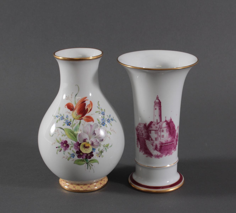 Paar Vasen, Höchster Porzellanmanufaktur-2