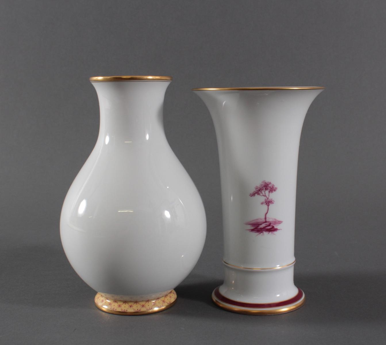 Paar Vasen, Höchster Porzellanmanufaktur-3