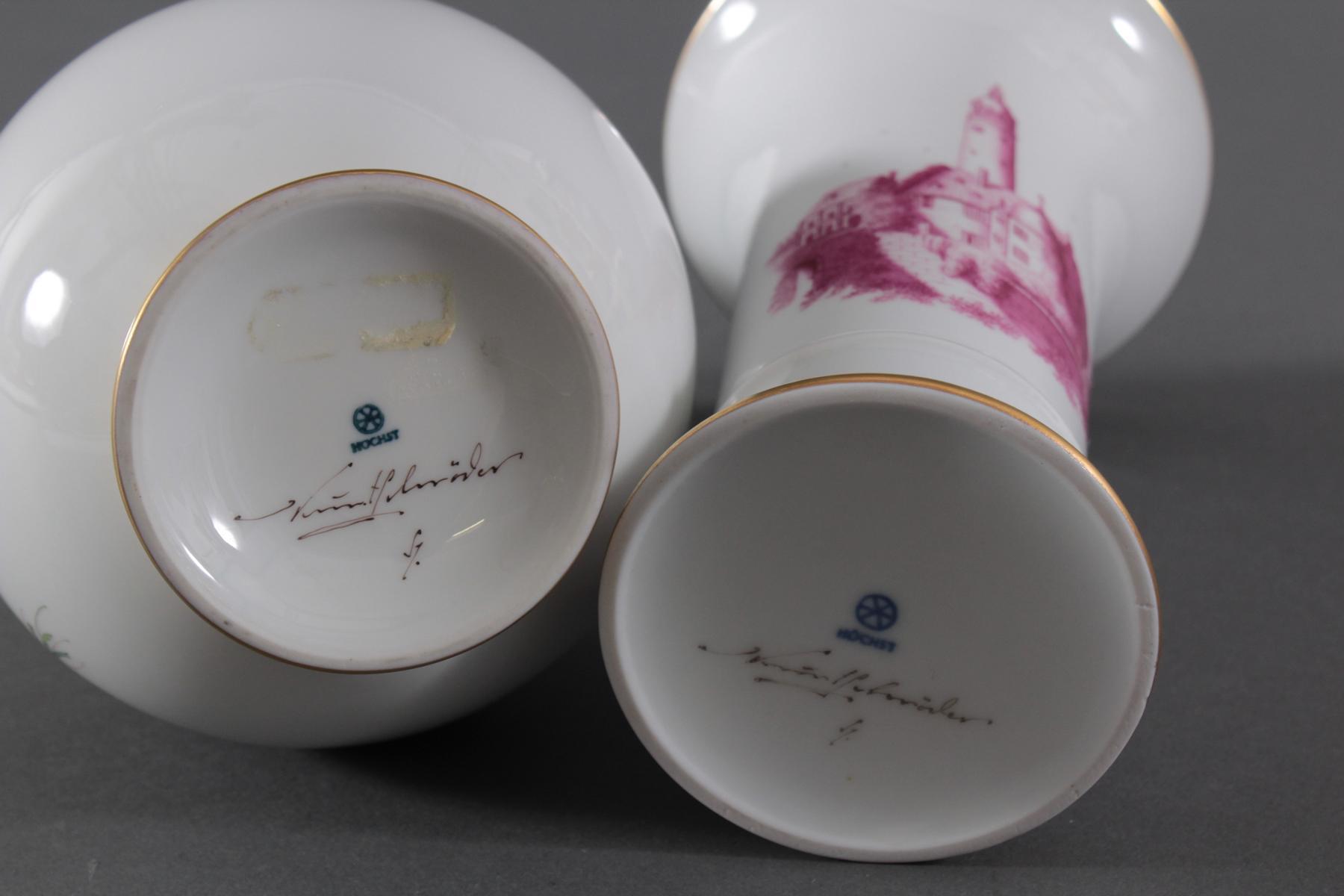 Paar Vasen, Höchster Porzellanmanufaktur-4