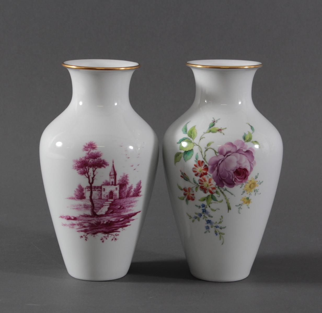 Paar Vasen, Höchster Porzellanmanufaktur