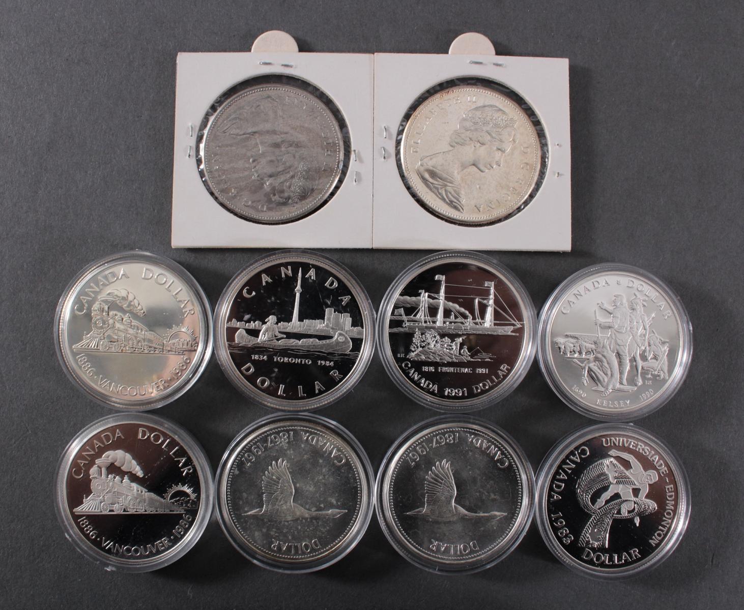 Die offiziellen Silbergedenkmünzen Kanadas