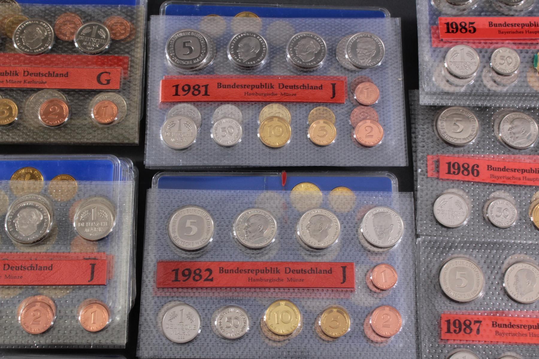 Sammlung Kursmünzensätze in allen Prägeanstallten 1974 – 1989-4