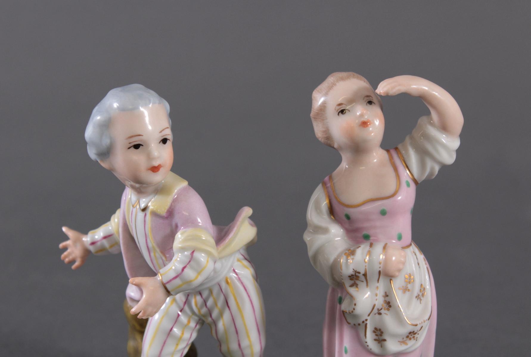 Porzellanfigur, Höchster Porzellanmanufaktur, 'Mädchen'-3