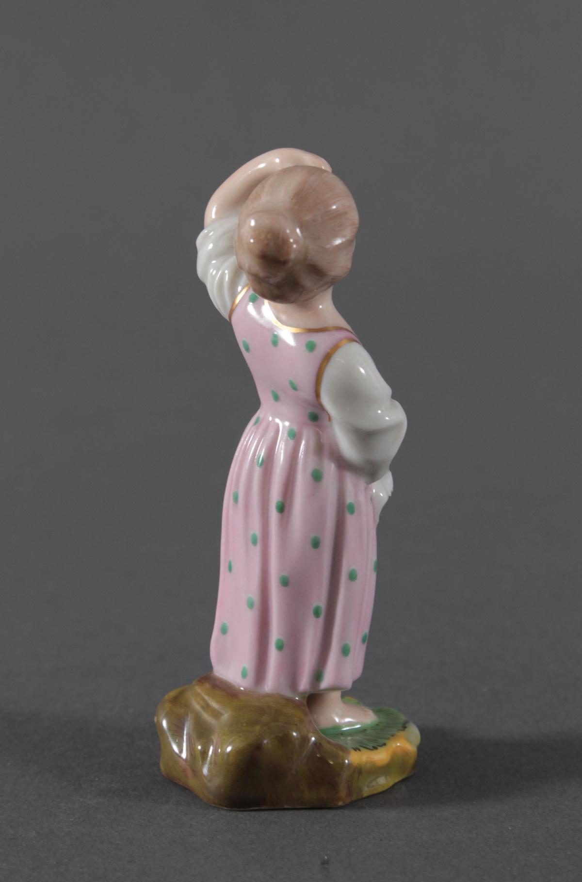 Porzellanfigur, Höchster Porzellanmanufaktur, 'Mädchen'-5