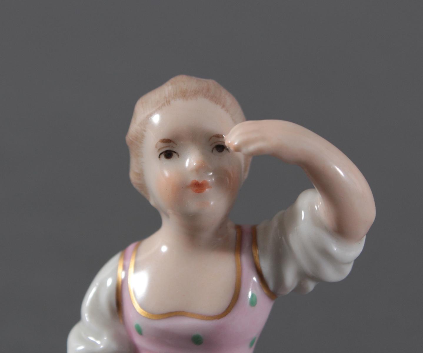 Porzellanfigur, Höchster Porzellanmanufaktur, 'Mädchen'-6