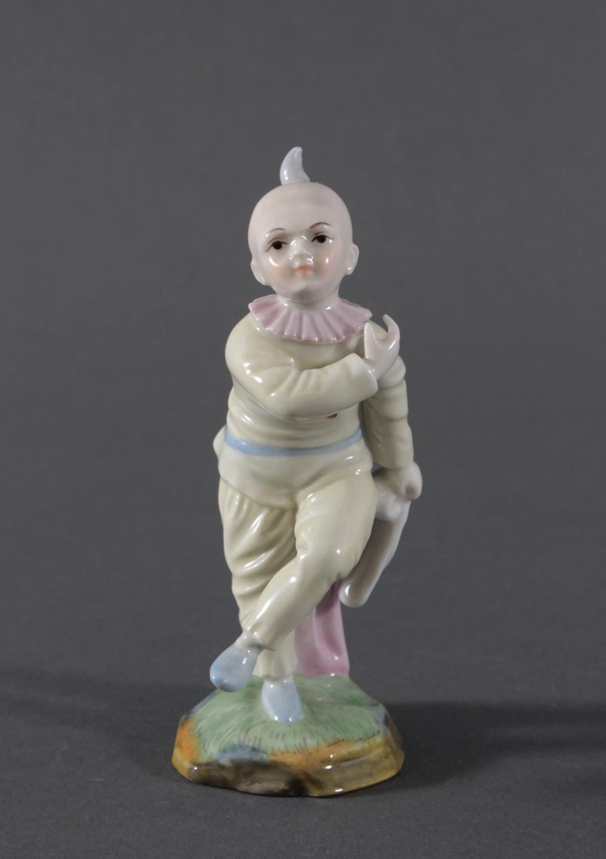 Porzellanfigur, Höchster Porzellanmanufaktur, 'Harlekin'-2