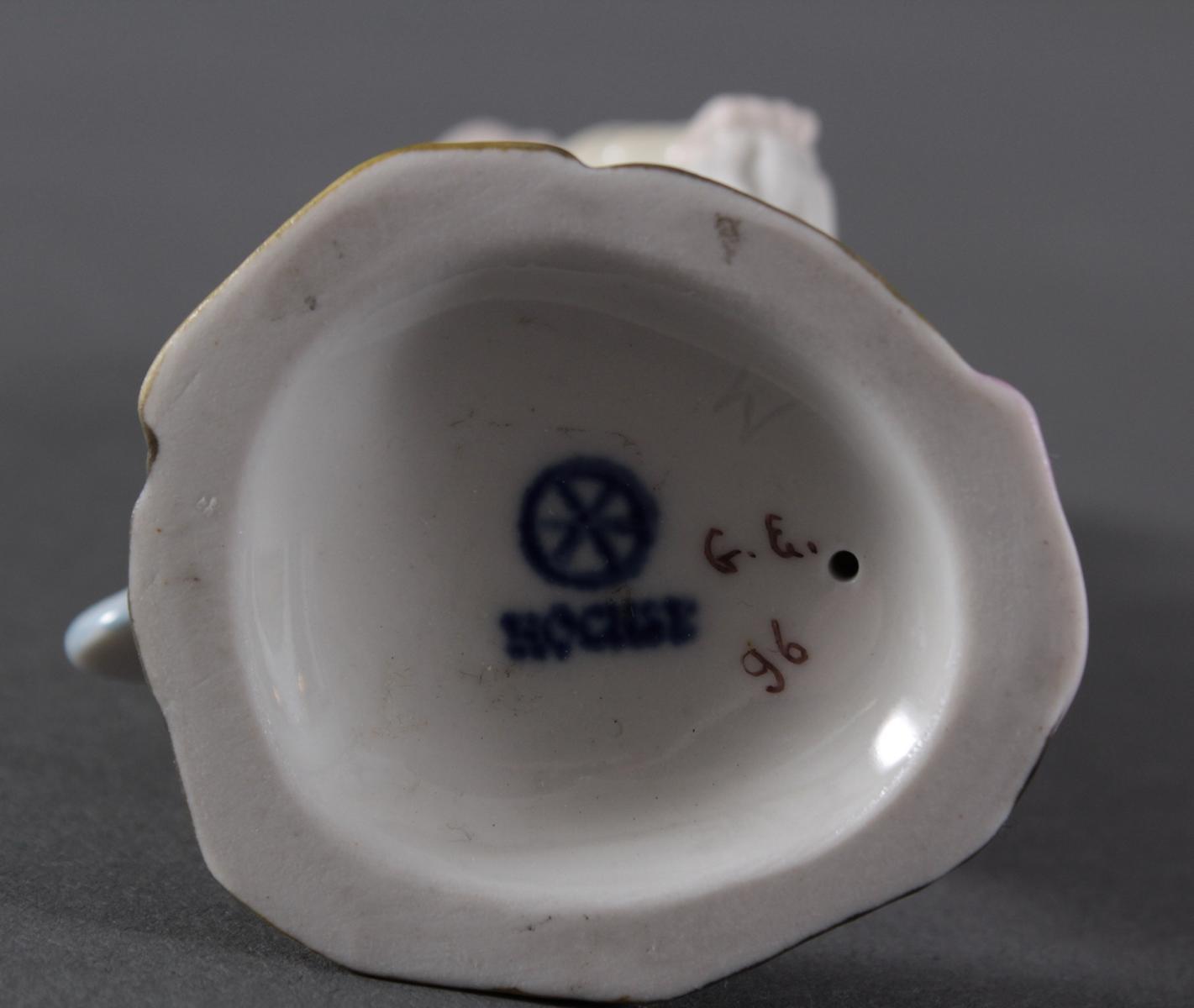 Porzellanfigur, Höchster Porzellanmanufaktur, 'Harlekin'-6