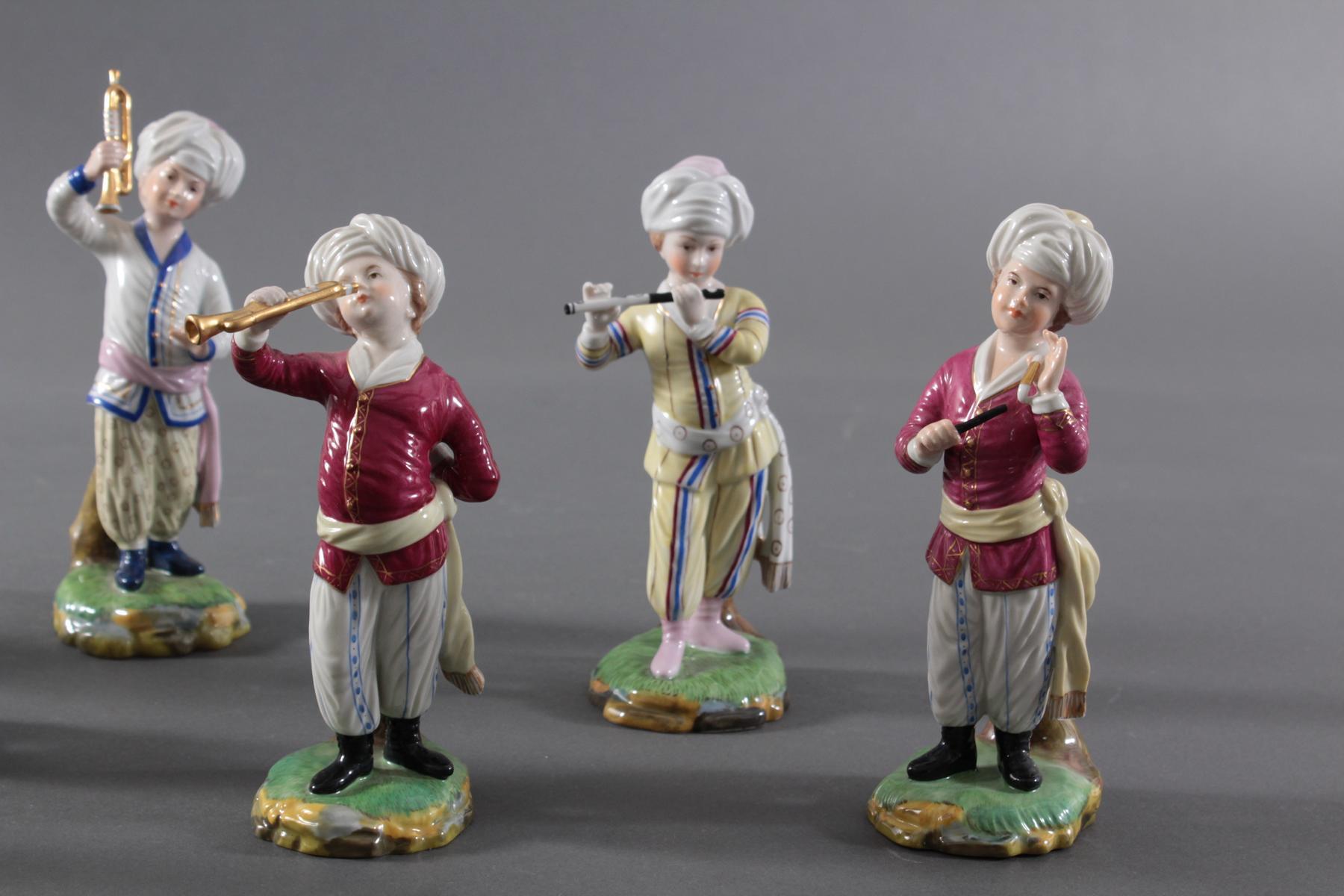 Höchster Porzellanmanufaktur, 'Türkische Kapelle'. 10 Stück-5