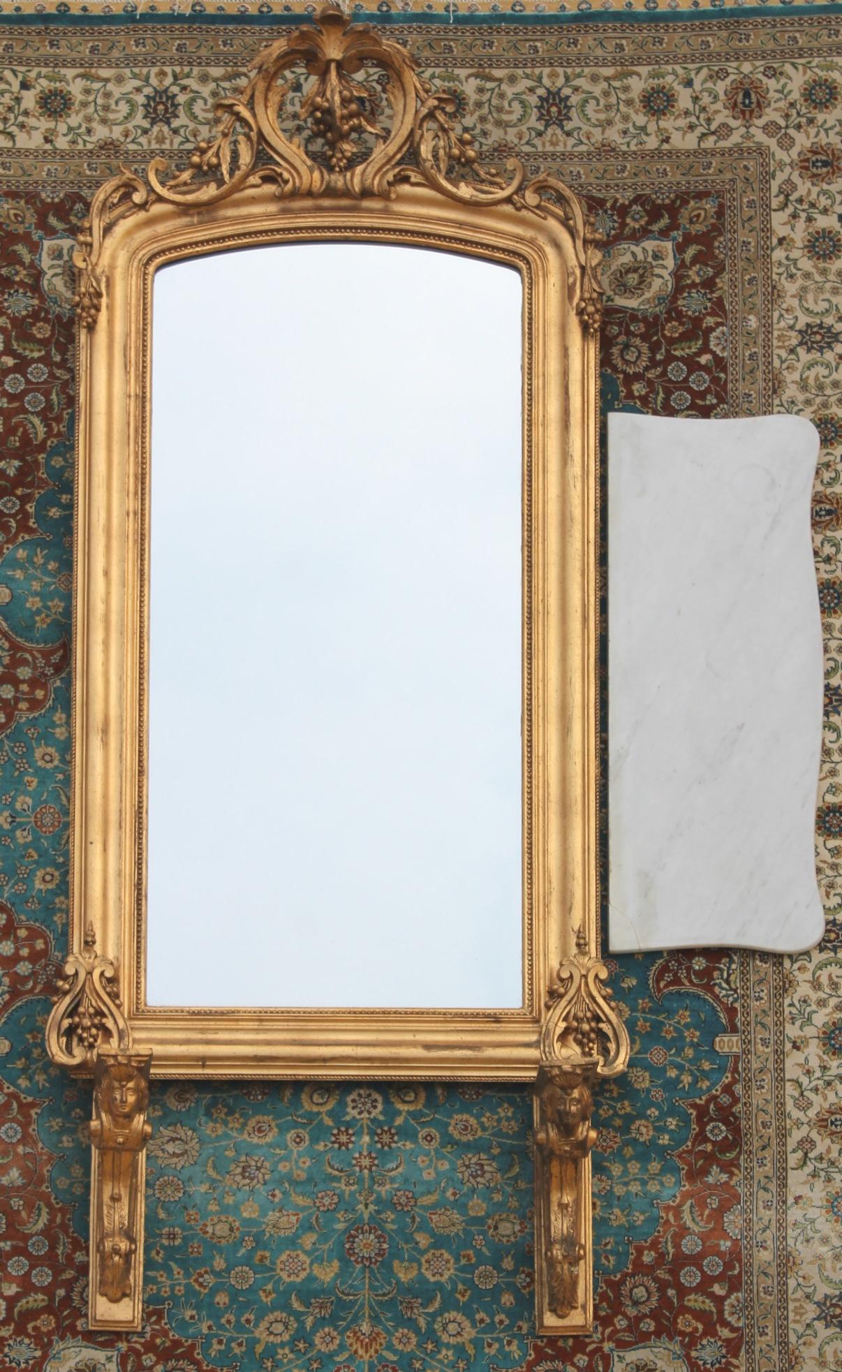 Spiegel und Hängekonsole im Empire Stil
