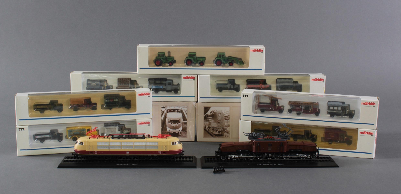 Märklin Modellautos und Atlas Zugmodelle in der original Verpackung, Spur H0